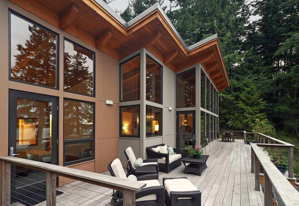 Imi Furniture for Rustic Deck with Wood Exterior