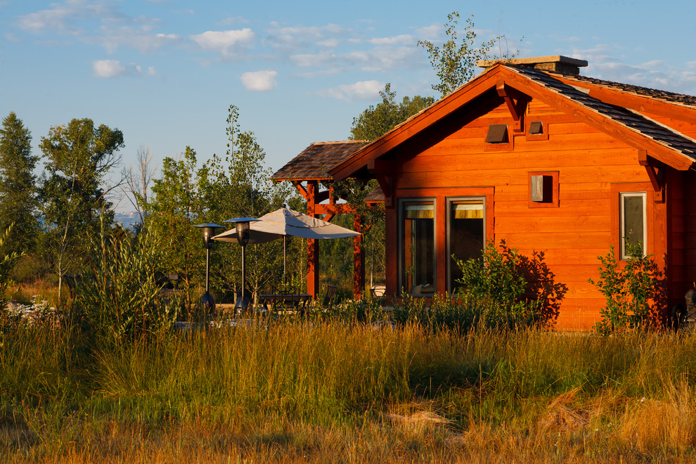 Jackson Hole Golf and Tennis for Rustic Exterior with View
