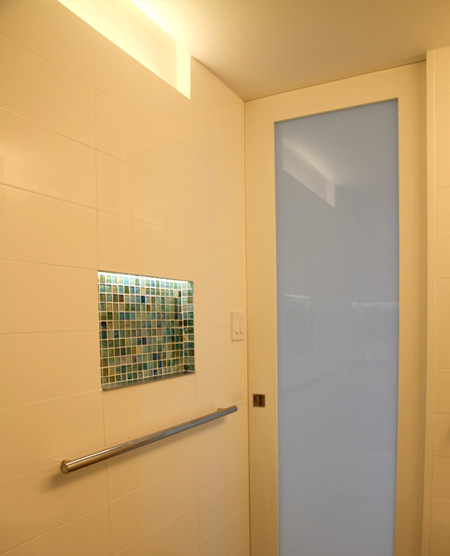Jesco Lighting for Contemporary Bathroom with Bathroom Floor