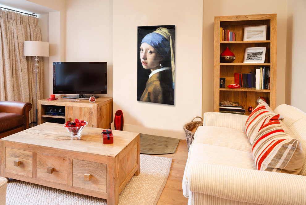 Johannes Vermeer Artwork for Traditional Family Room with Wall Art for Long Wall