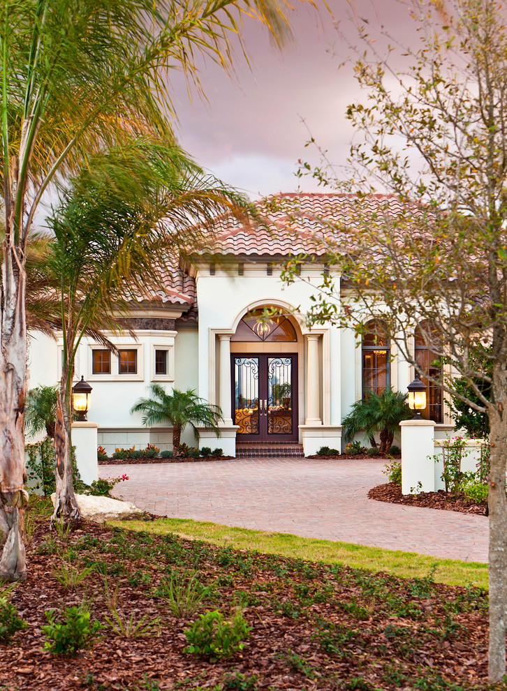 John Cannon Homes for Mediterranean Exterior with Clay Tile Roof