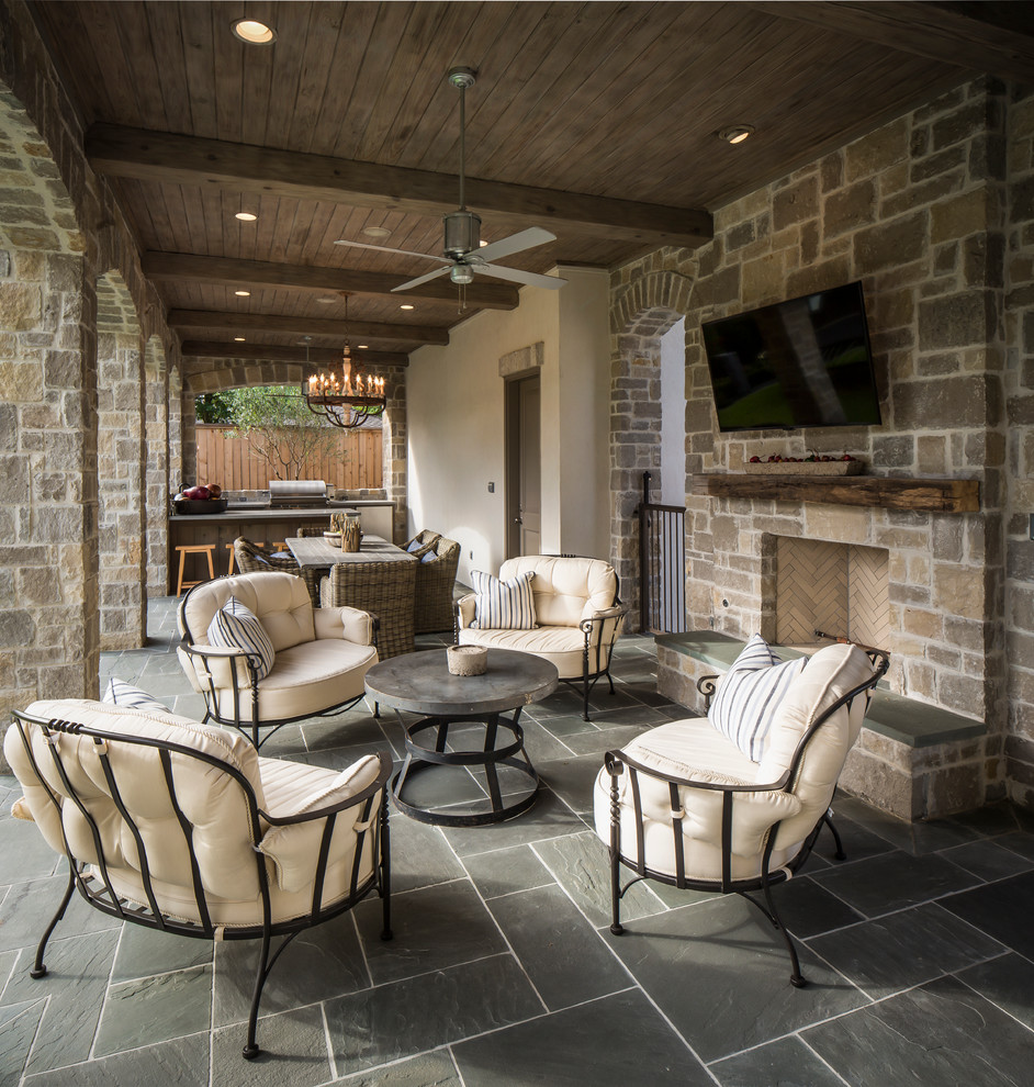 John Houston Custom Homes for Traditional Patio with Stone Arches