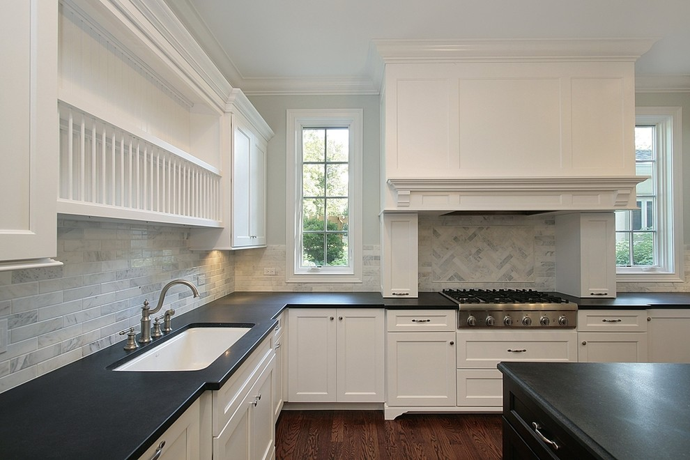 Kemper Cabinets for Contemporary Kitchen with Light Fixtures
