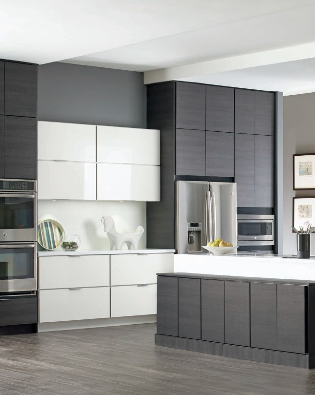 Kemper Direct for Contemporary Kitchen with White Cabinet
