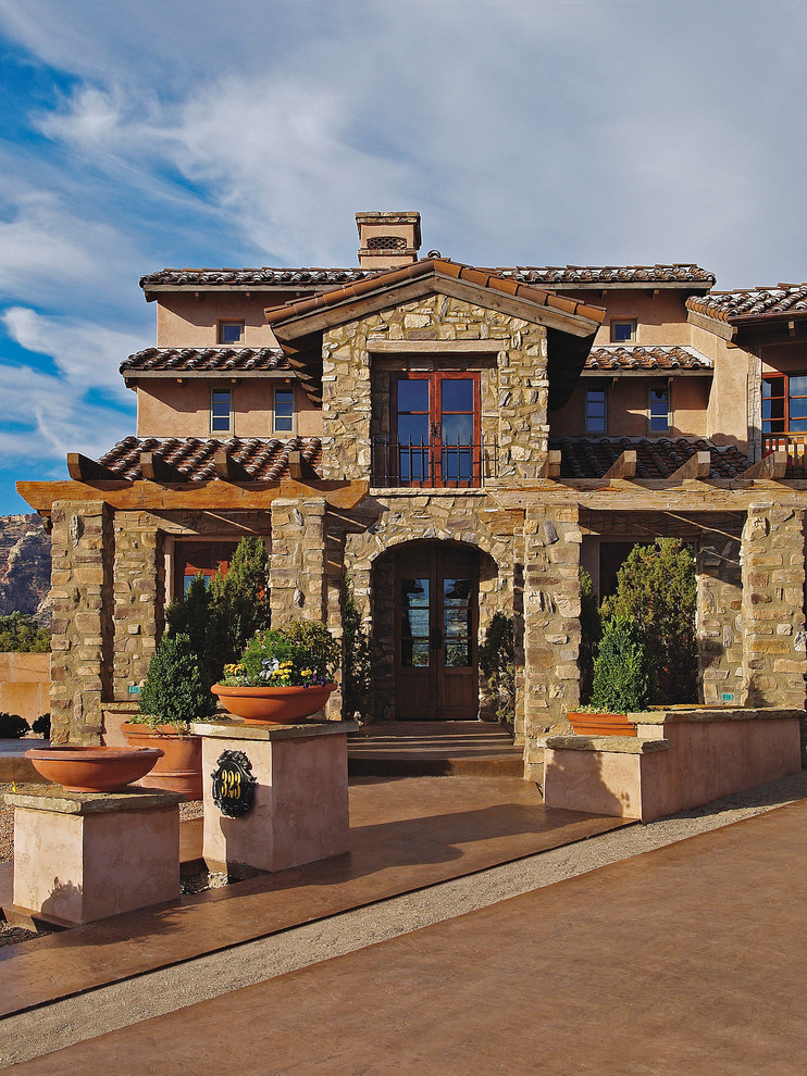 Keystone Builders for Mediterranean Exterior with Tuscan Style
