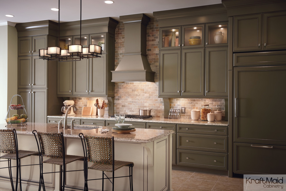 Kraft Maid for Traditional Kitchen with Kraftmaid