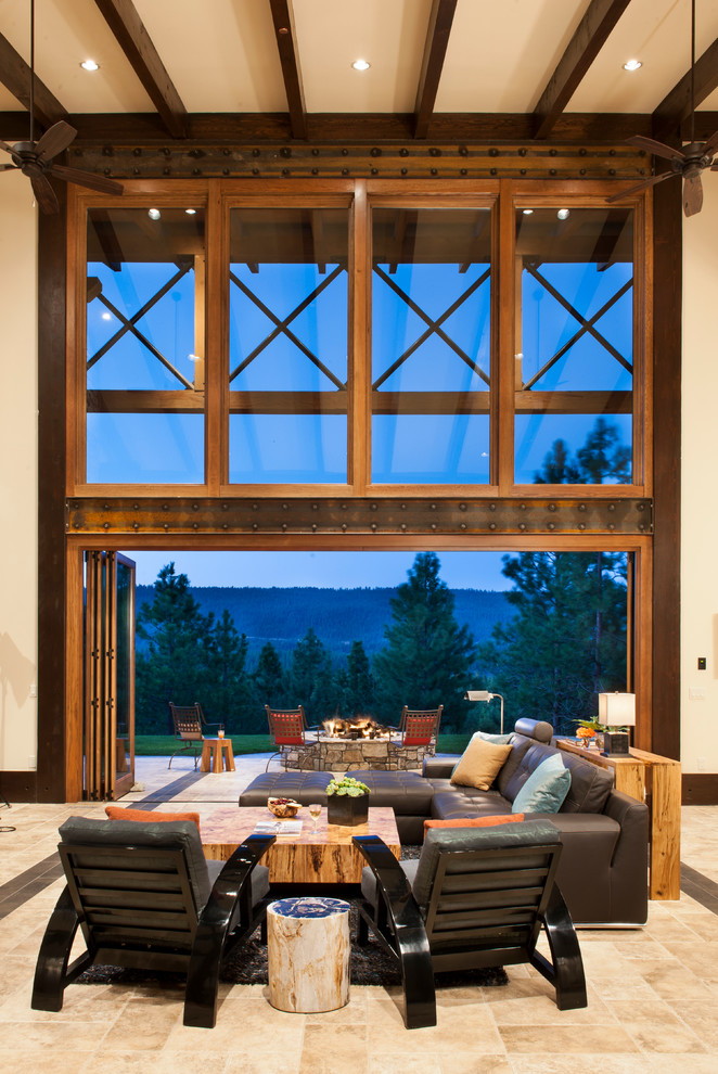 La Cantina Doors for Rustic Living Room with Indoor Outdoor