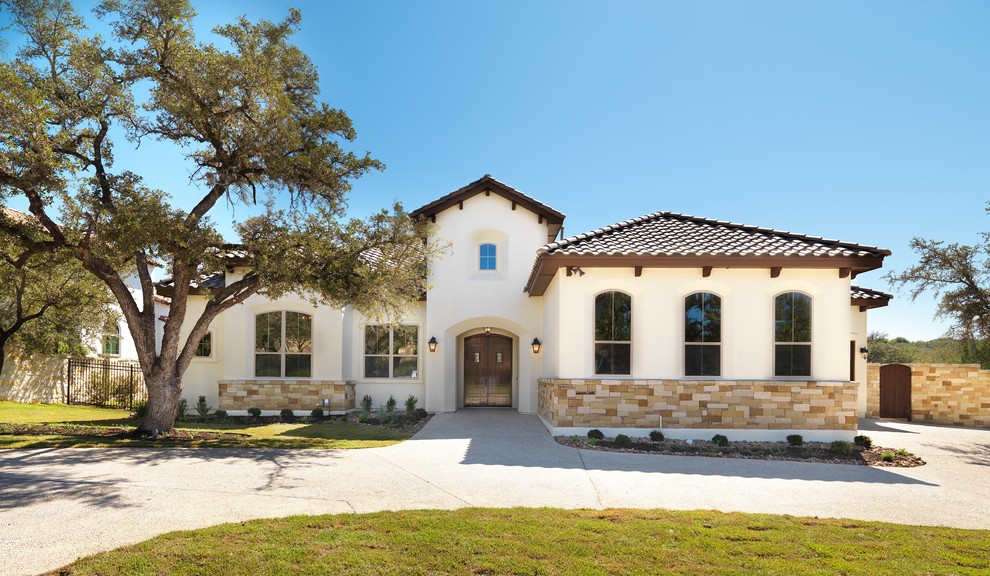 La Habra Stucco for Mediterranean Exterior with Mediterranean Style