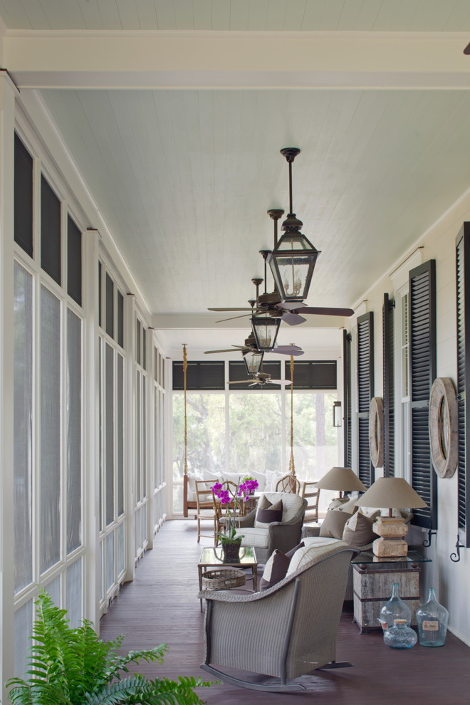 Lanai Porch for Traditional Porch with Outdoor Lamp