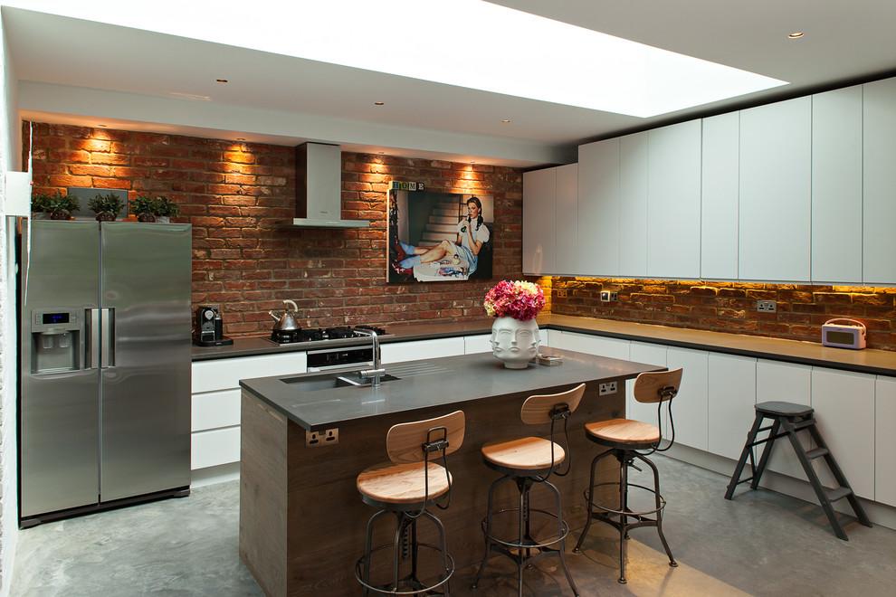 Landers Appliance for Industrial Kitchen with Breakfast Bar