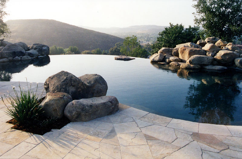 Landscapers Supply for Contemporary Pool with Infinity Pool