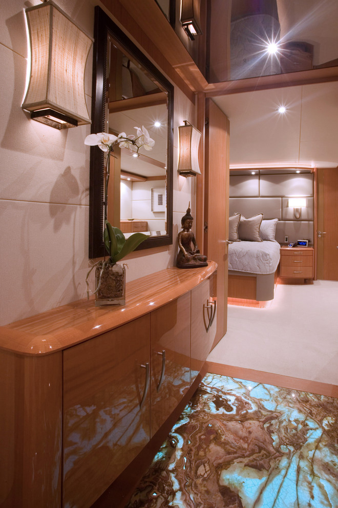 Lazzara Yachts for Contemporary Entry with Backlit Onyx