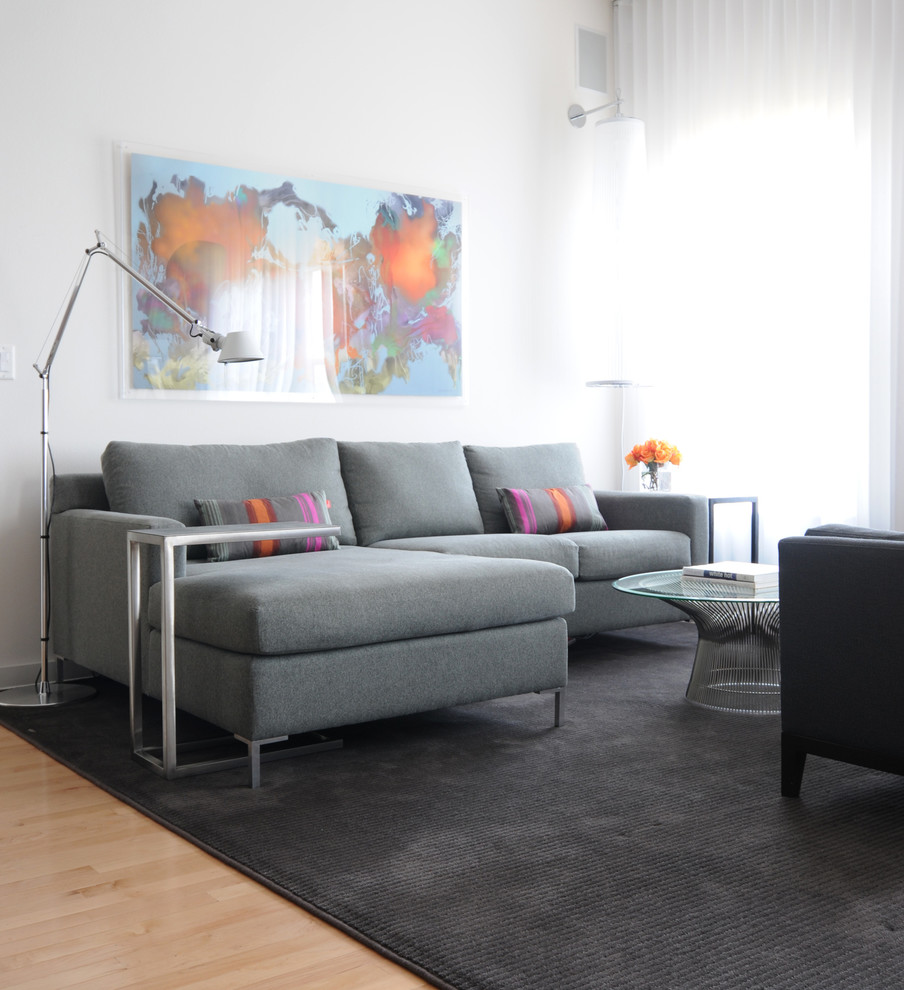 Lee House Brandon Fl for Contemporary Living Room with Gray Couch