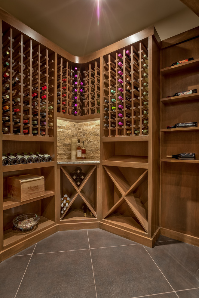 Legacy Homes Omaha for Traditional Wine Cellar with Display Shelves