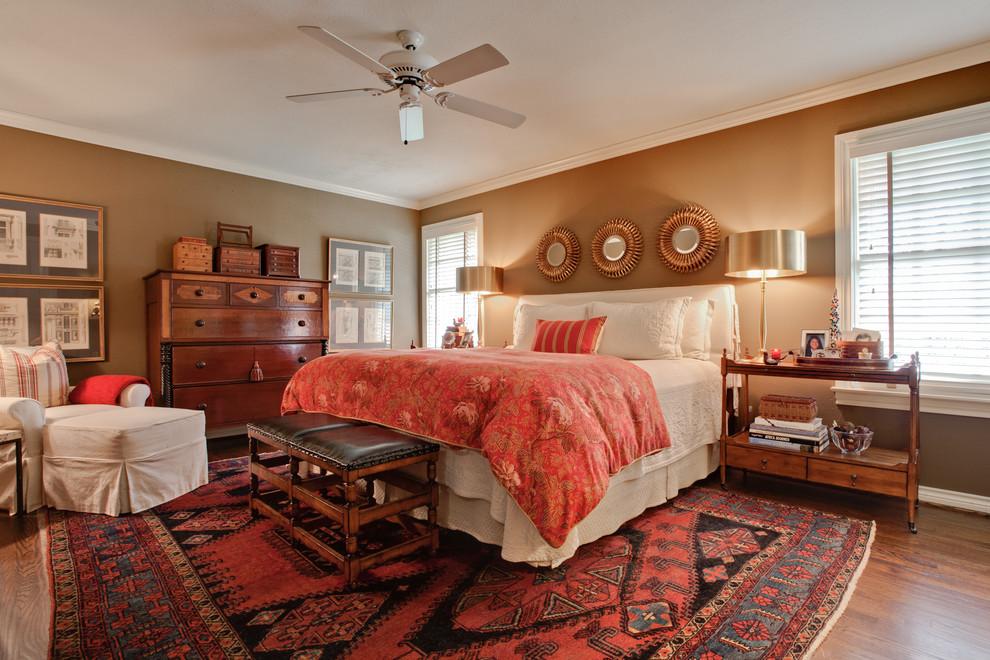 Leirvik Bed Frame for Transitional Bedroom with Brown