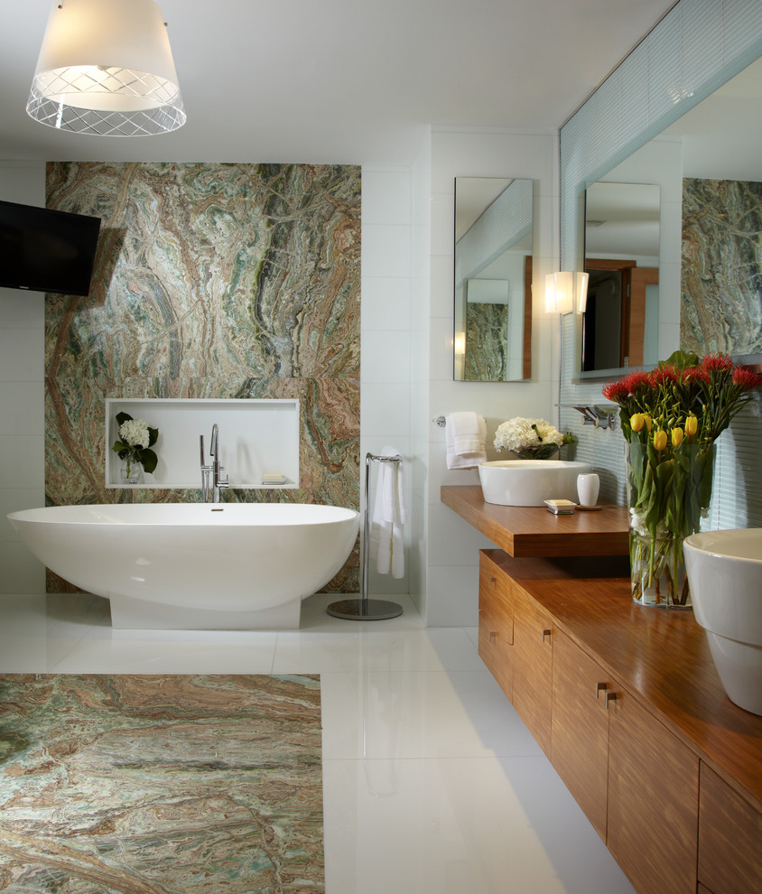 Lennar Homes Miami for Contemporary Bathroom with Floating Shelf