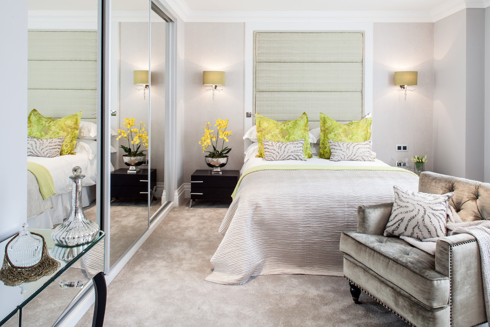 Lime Lush Boutique for Contemporary Bedroom with Bed Cushions