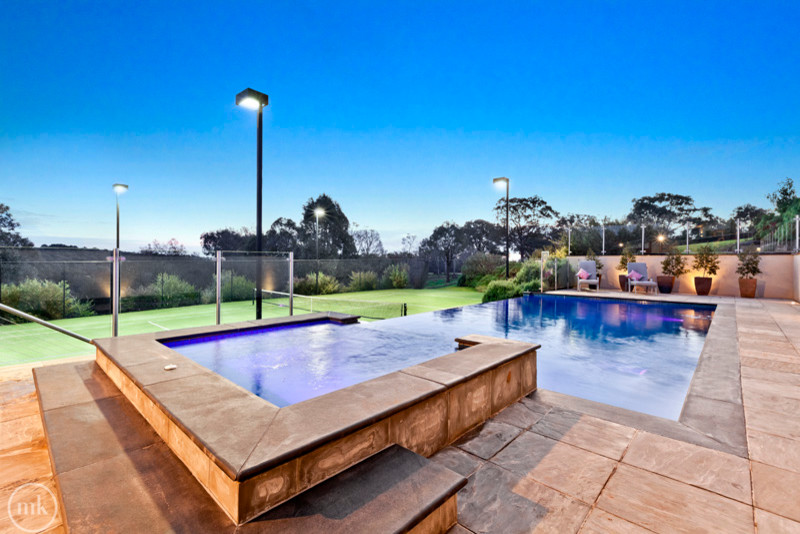 Lindon Pool for Contemporary Pool with Glass