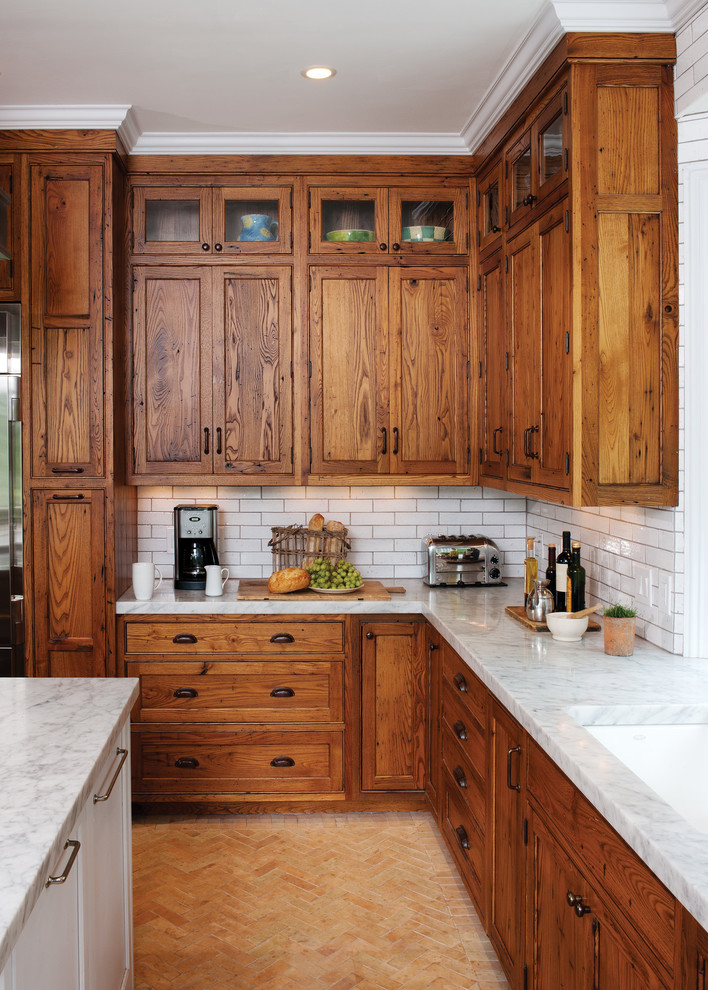 Linnea Hardware for Rustic Kitchen with Granite