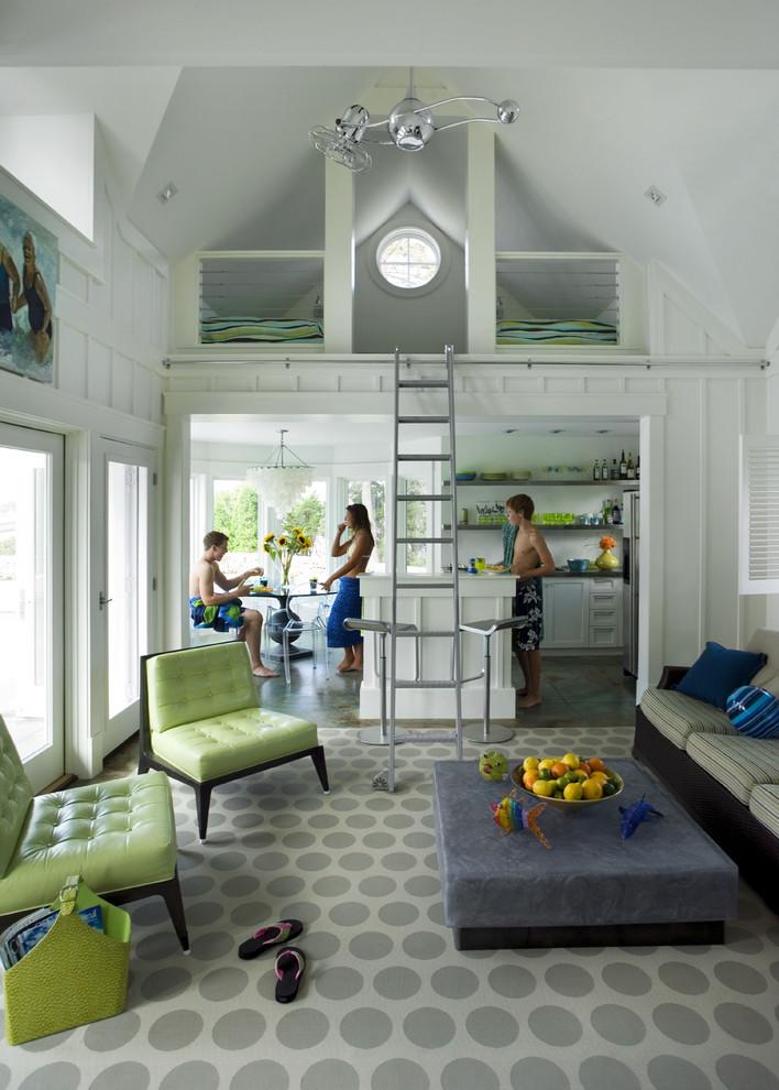 Lofting for Beach Style Pool with Barn Loft