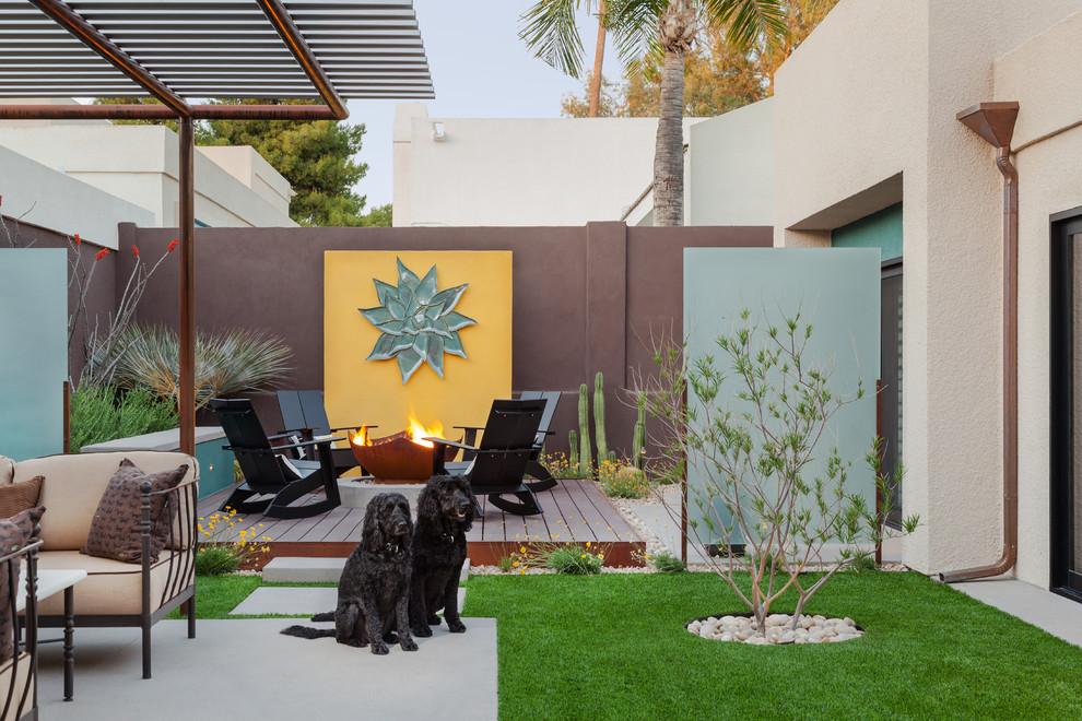 Loll Designs for Contemporary Landscape with Concrete Patio