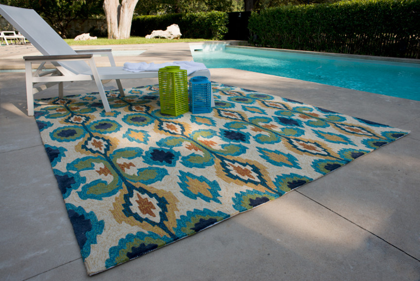 Loloi for Modern Pool with Rugs