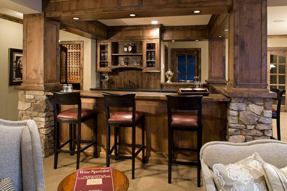 Lorts for Rustic Home Bar with Martha Ohara Interiors