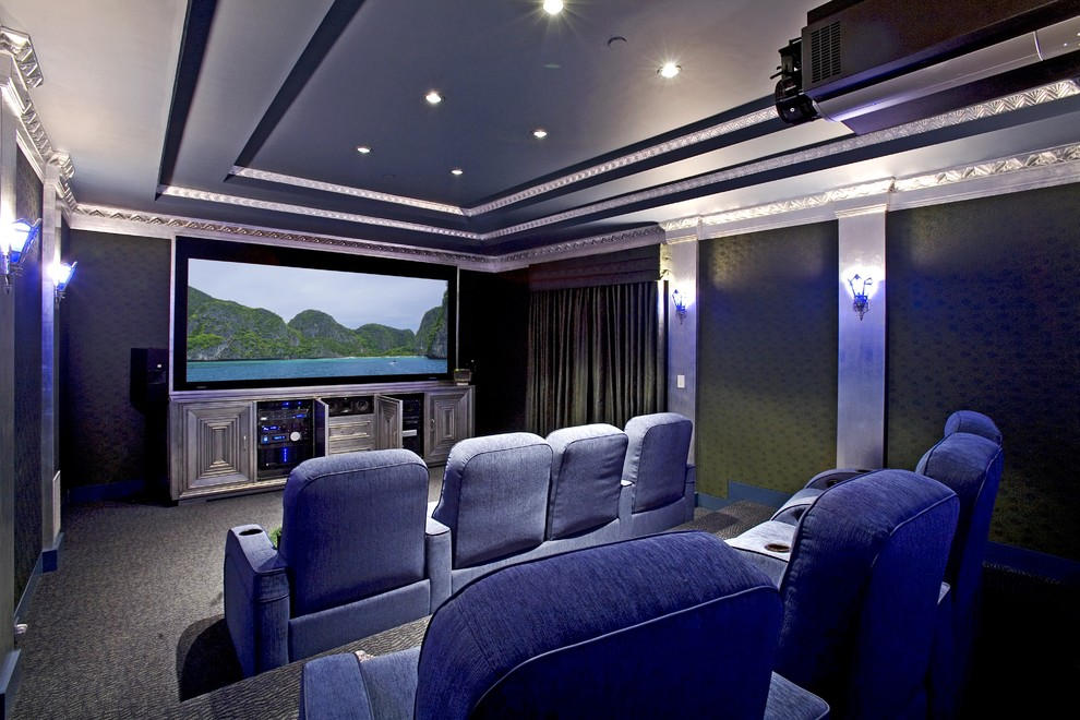Los Banos Theater for Eclectic Home Theater with Don Nulty Architecture