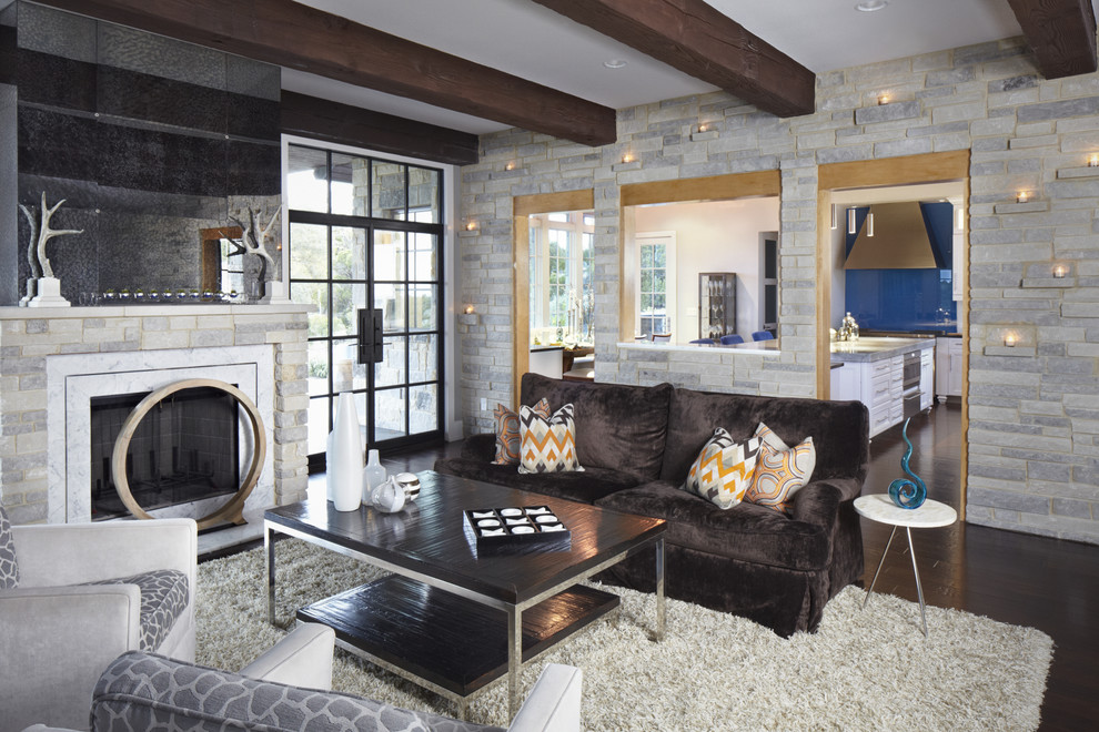 Louis Shanks for Contemporary Living Room with Brown