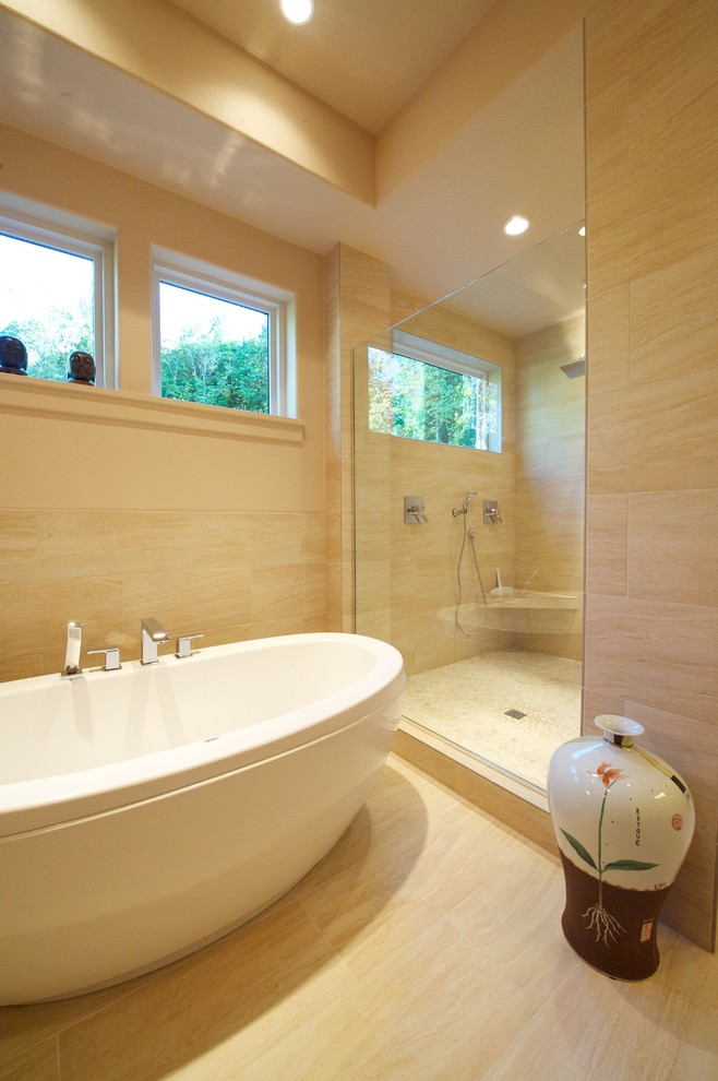 Lowes Bloomfield Ct for Contemporary Bathroom with Beige Wall