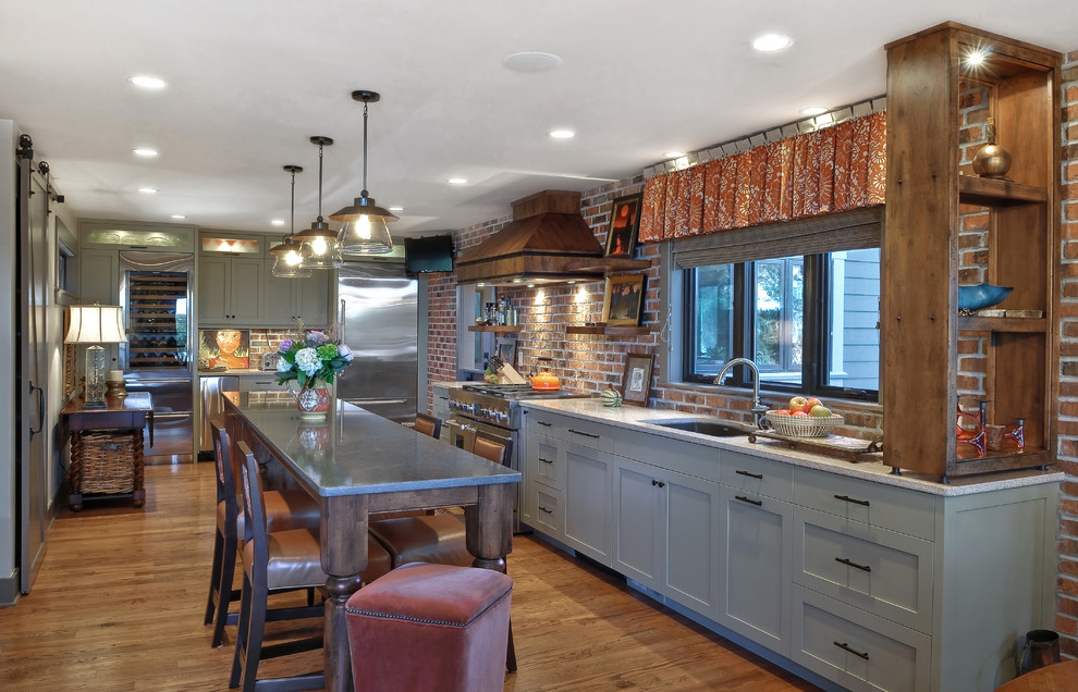 Lowes Charleston Wv for Transitional Kitchen with Open Shelves