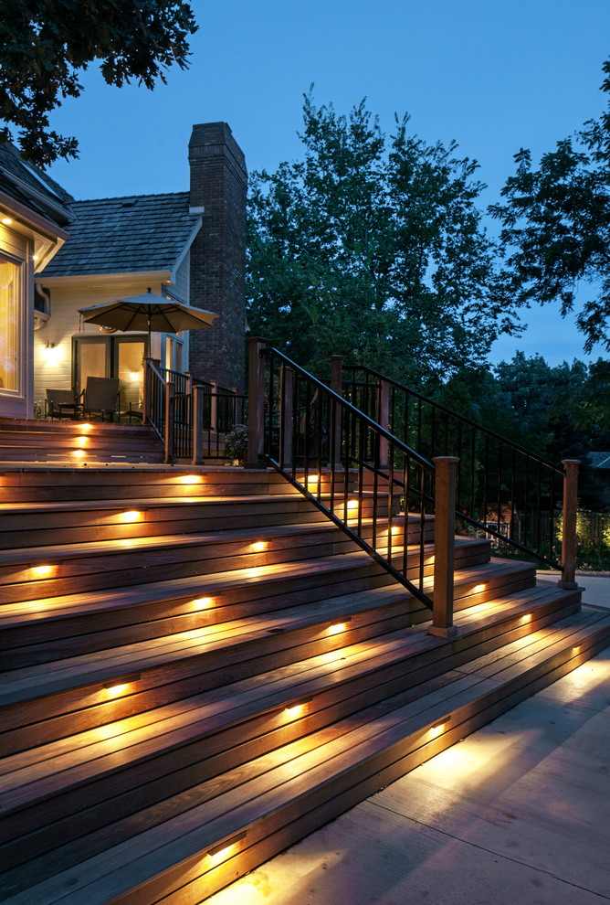 Lowes Omaha for Traditional Deck with Step Lighting
