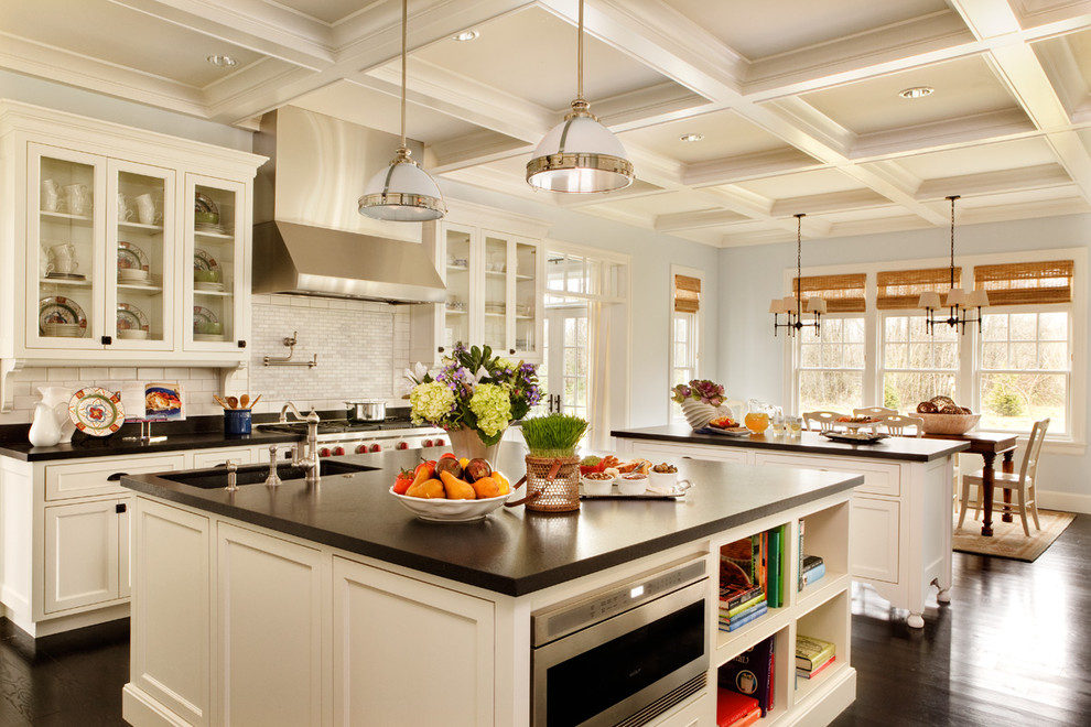 Lowes Portland Maine for Traditional Kitchen with Coffered Ceiling