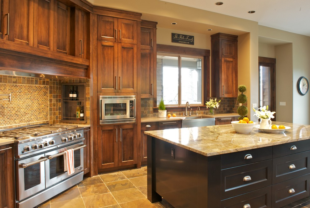 Lowes Tigard for Traditional Kitchen with Beige Mosaic Tile Backsplash