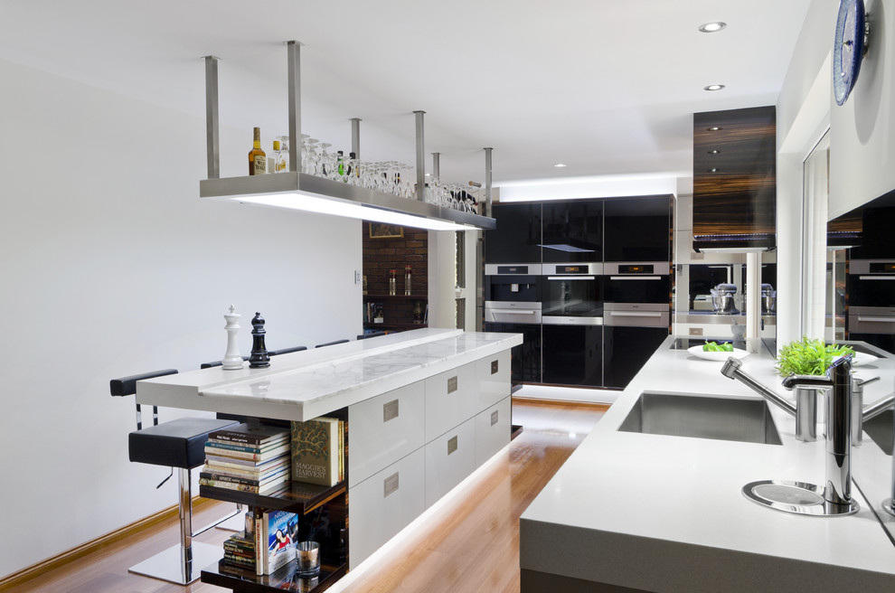 Lumiere Lighting for Contemporary Kitchen with Recessed Lighting