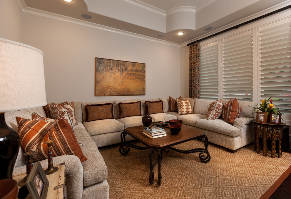 Lynbrook Theater for Mediterranean Home Theater with Mediterranean