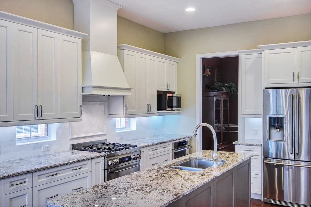 Marble vs Granite for Transitional Kitchen with Daltile