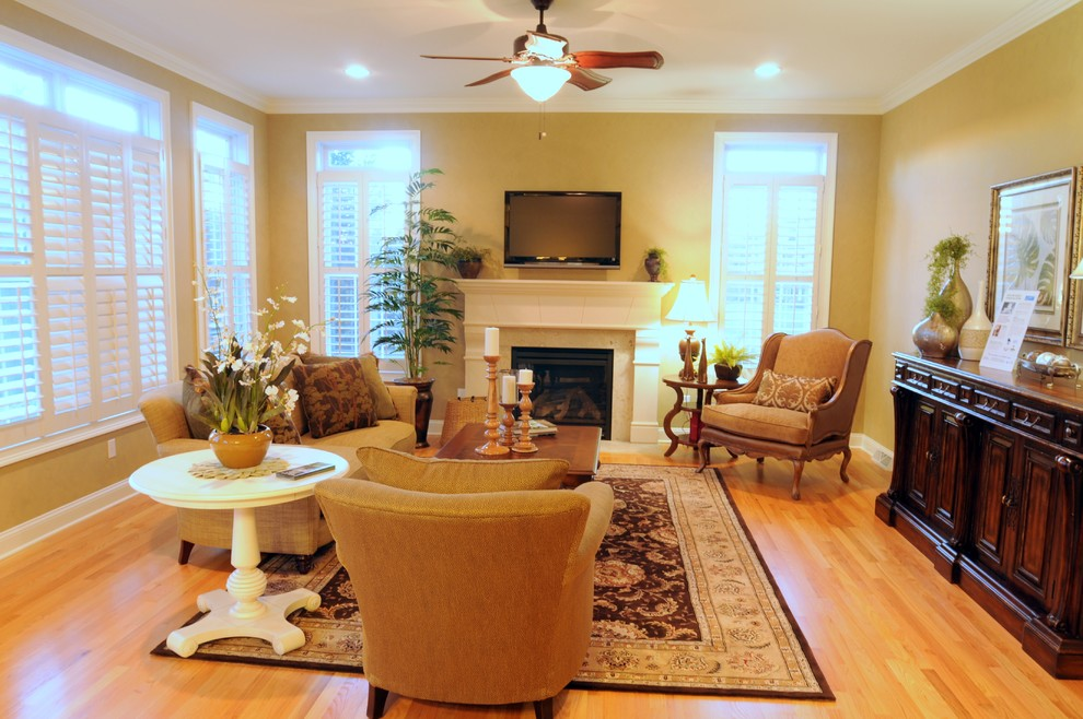 Marini Builders for Traditional Spaces with Builder Model Home