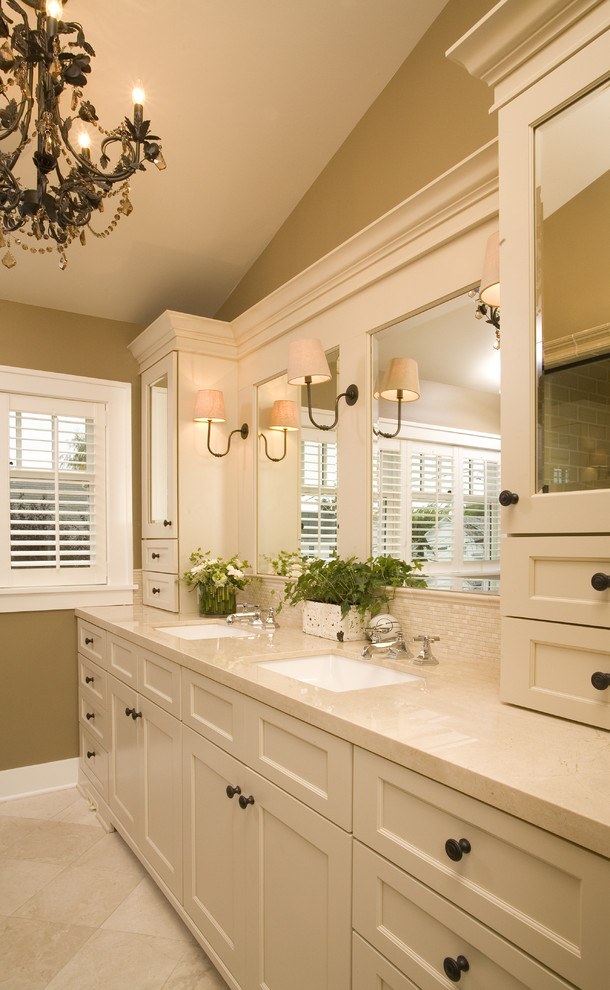 Masterbrand Cabinets for Traditional Bathroom with Bathroom Storage