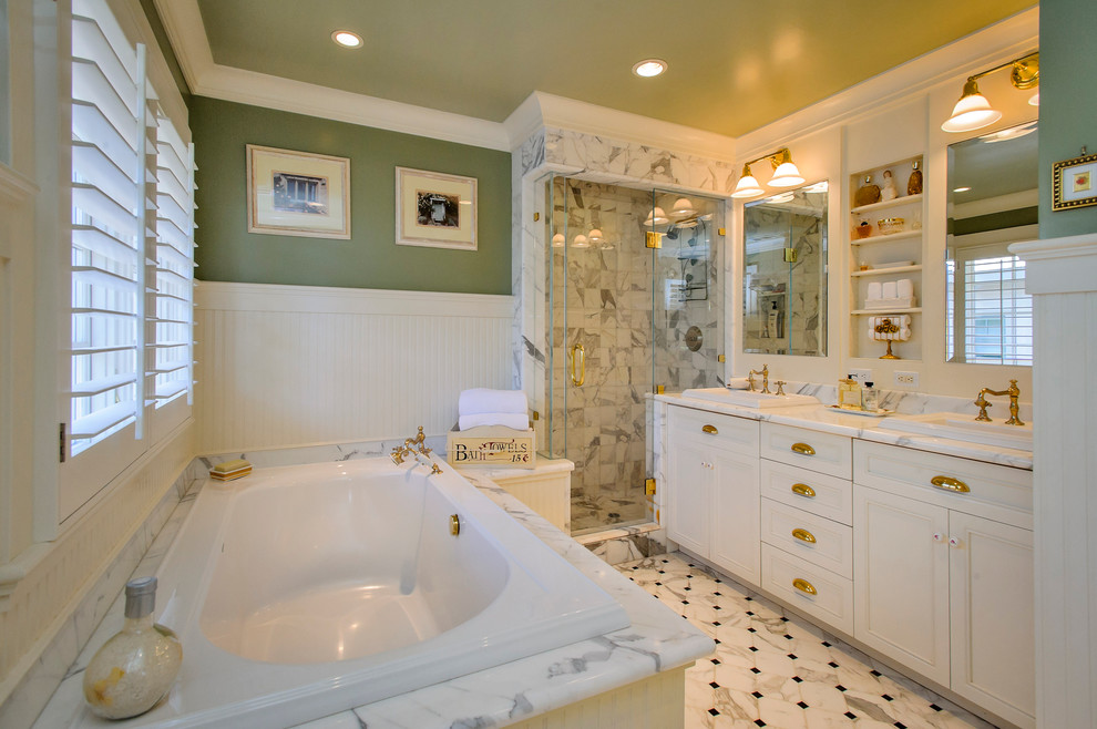 Mayer Lighting for Traditional Bathroom with Tub Deck