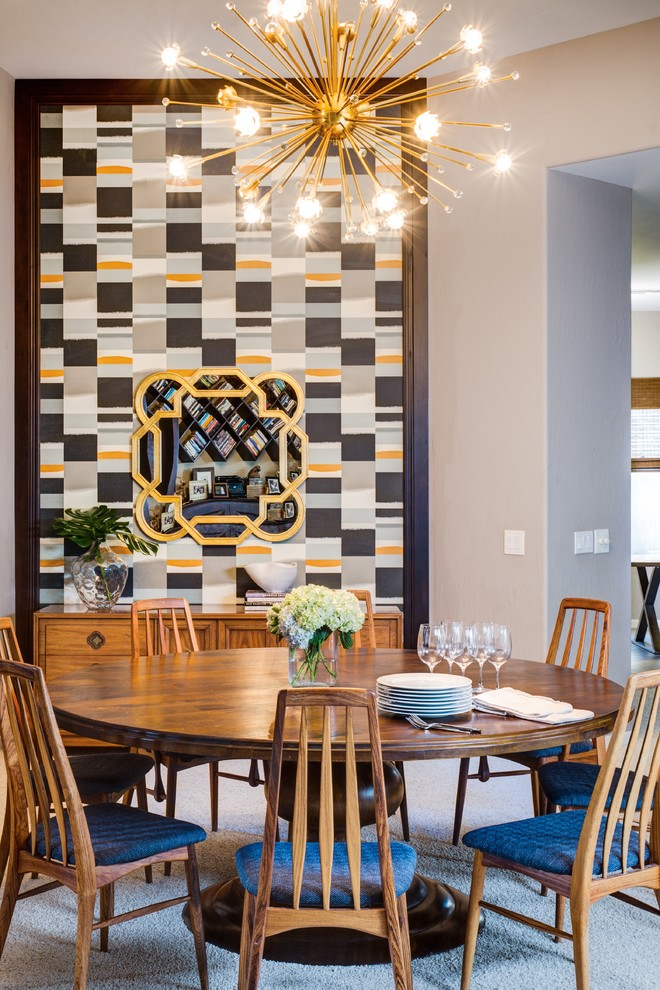 Mcdowell Mountain Ranch for Transitional Dining Room with Midcentury Modern