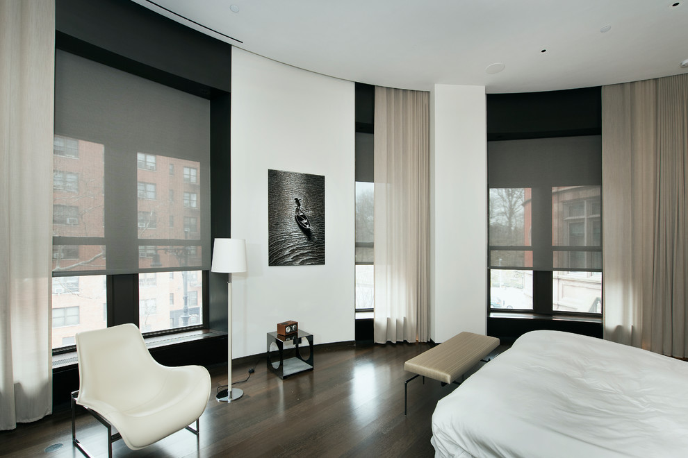 Mecho Shades for Modern Bedroom with Motorized Shades