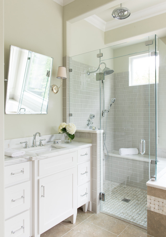 Metropolitan Bath and Tile for Farmhouse Bathroom with Square Pivot Mirror