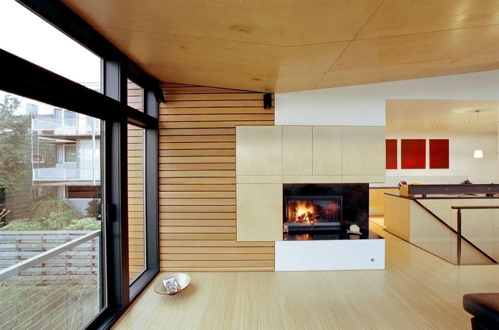 Milgard for Modern Living Room with Sliding Doors