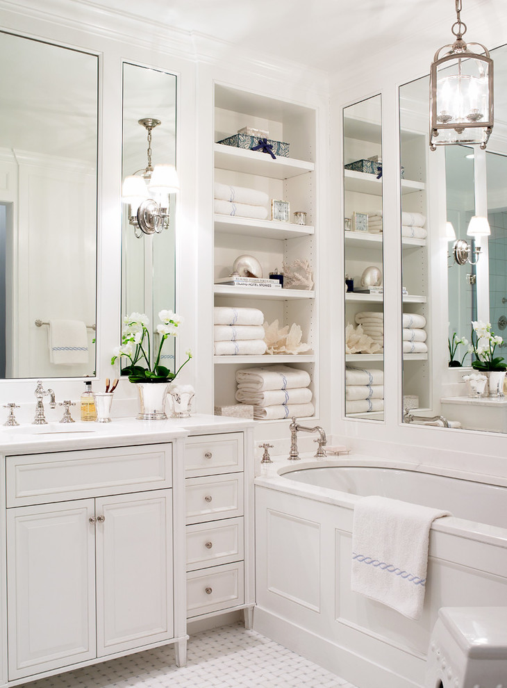 Millbrook Apartments for Traditional Bathroom with Marble Countertop