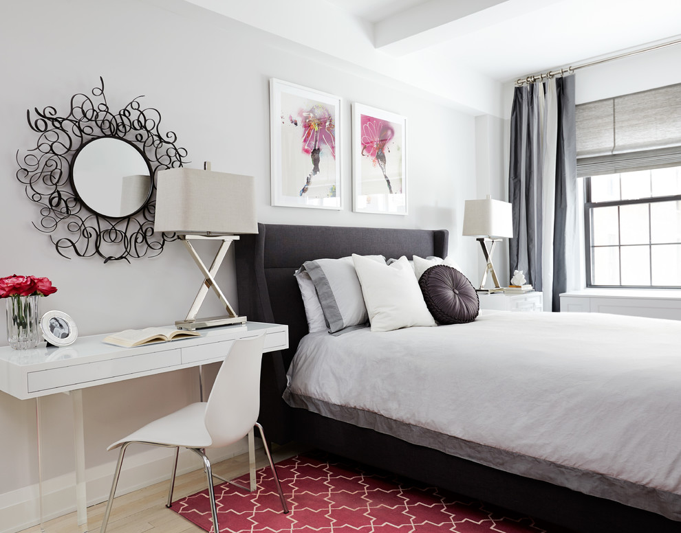 Modshop for Contemporary Bedroom with Pink Accents