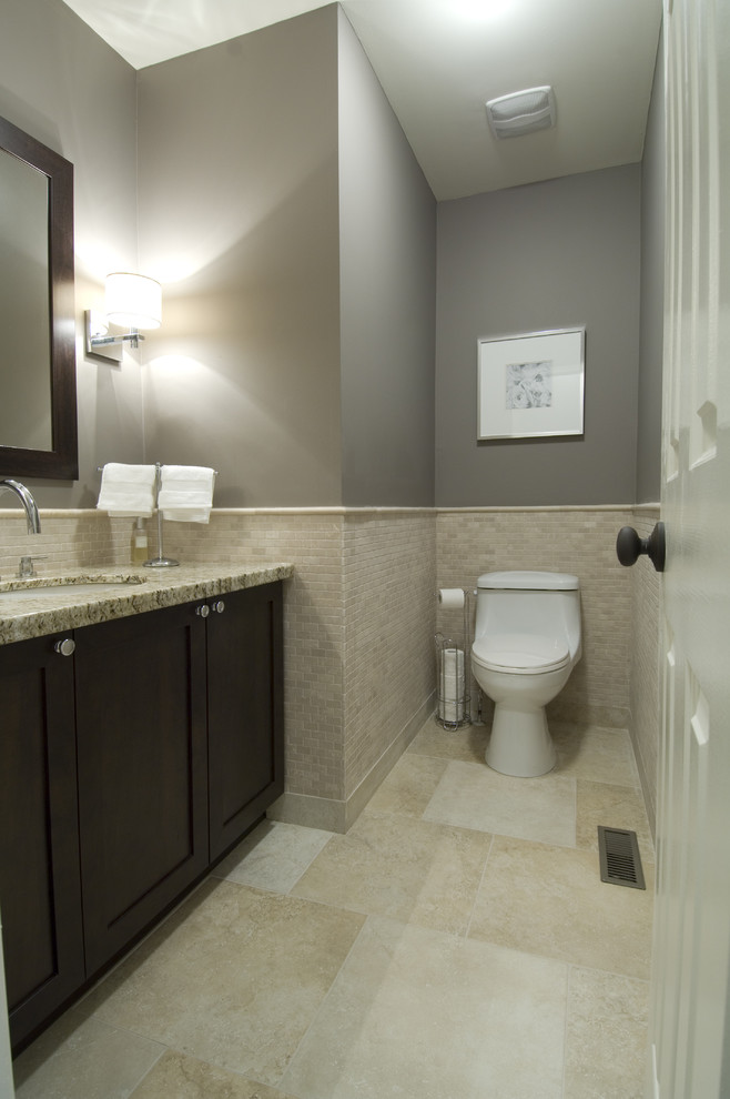 Msi Granite for Traditional Bathroom with Sconces