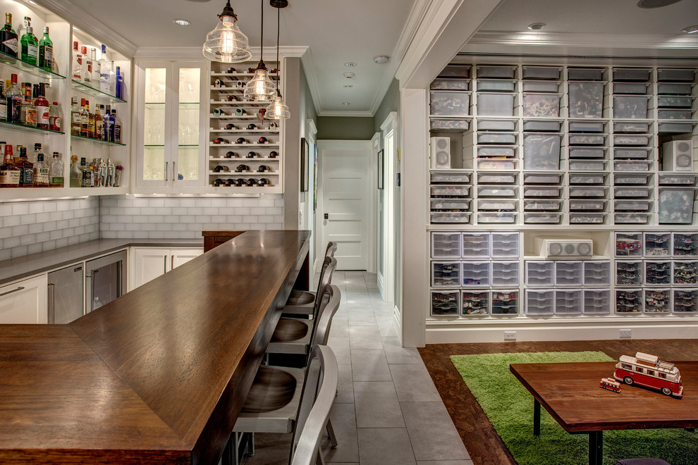 Muji Us for Craftsman Basement with Glass Tile