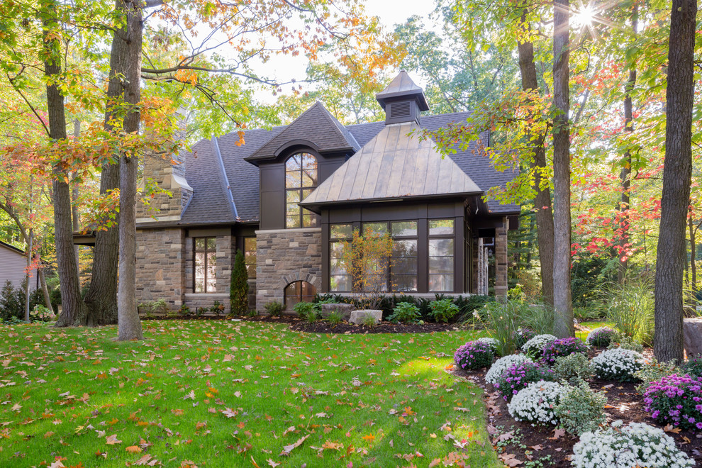 Mulch Masters for Traditional Exterior with Neutral Colors