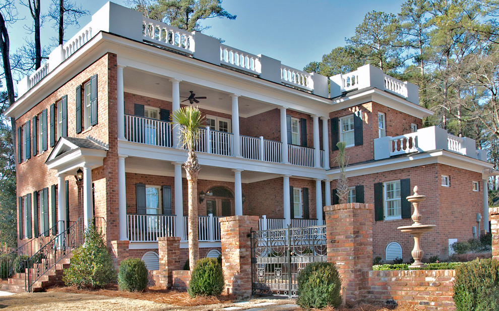 Mungo Homes Columbia Sc for Traditional Exterior with Bird Bath
